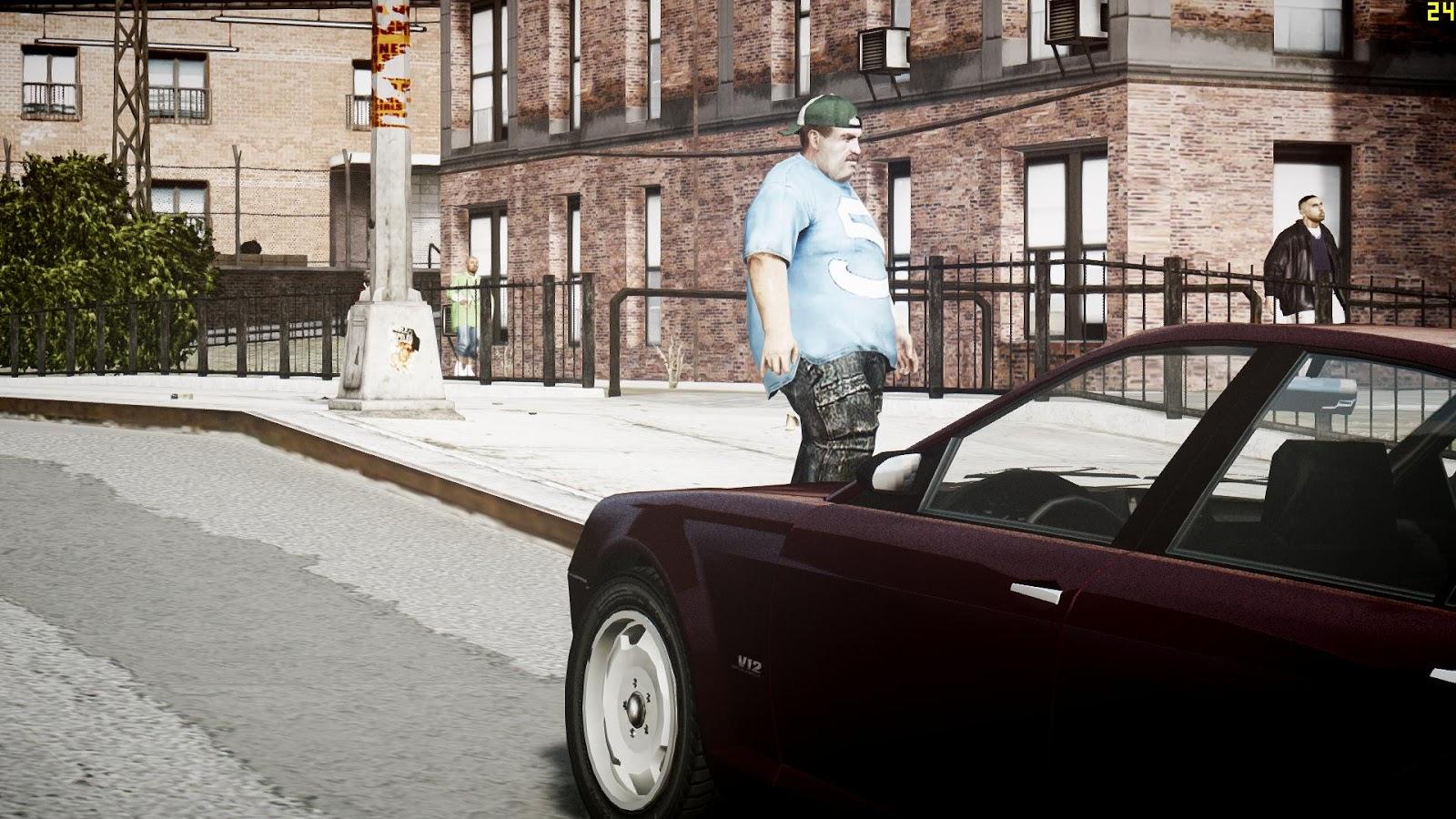 GTA 5,GTAV,GTA IV Mods and Skins: GTA IV MOD:Fat Niko