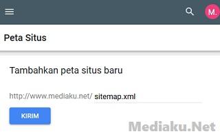 Daftarkan Sitemap Ke Google Lewat HP