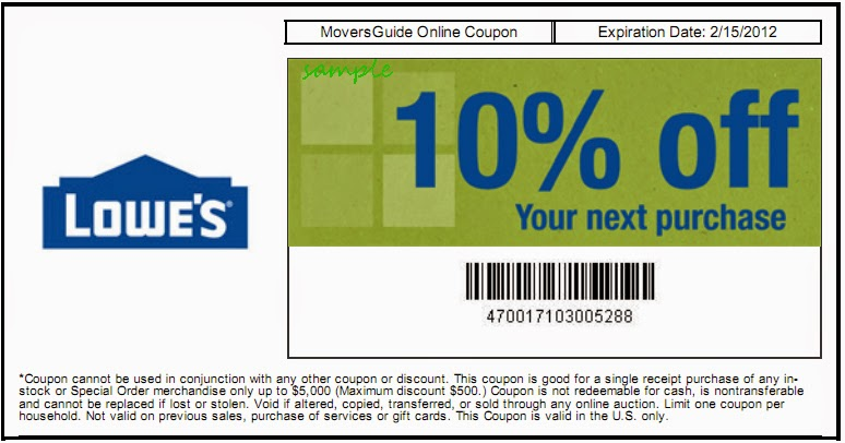 Lowes coupon discount