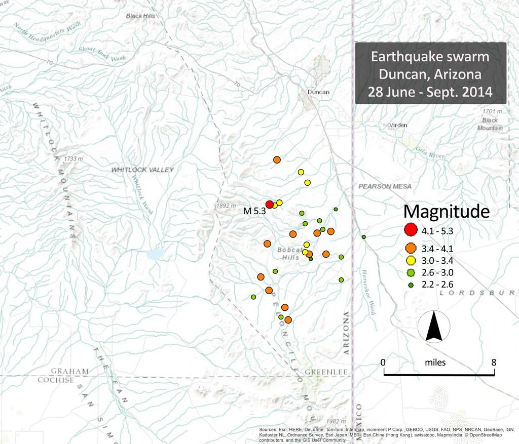 Arizona Geology: Small quake felt in Arizona, New Mexico