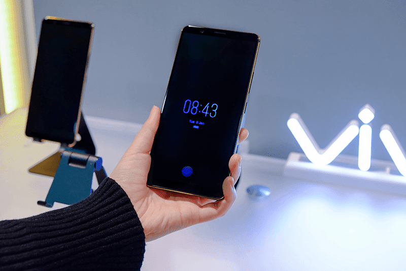 CES 2018: Vivo highlights a smartphone prototype with In-Display Fingerprint Scanning Technology