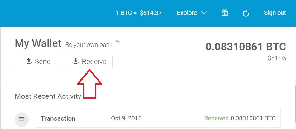 how to send bitcoins on blockchain