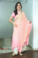 Actress Ritu Varma Pos in Beautiful Pink Anarkali Dress at at Keshava Movie Interview .COM 0163.JPG
