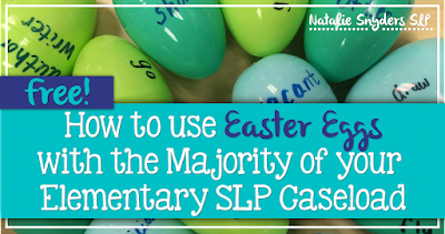How to use Easter eggs for the majority of your elementary school SLP caseload!