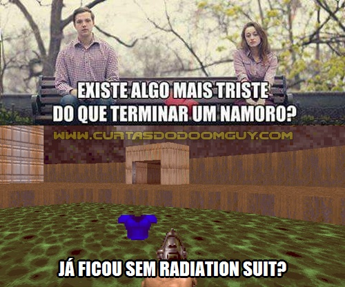 Já ficou sem radiation suit?