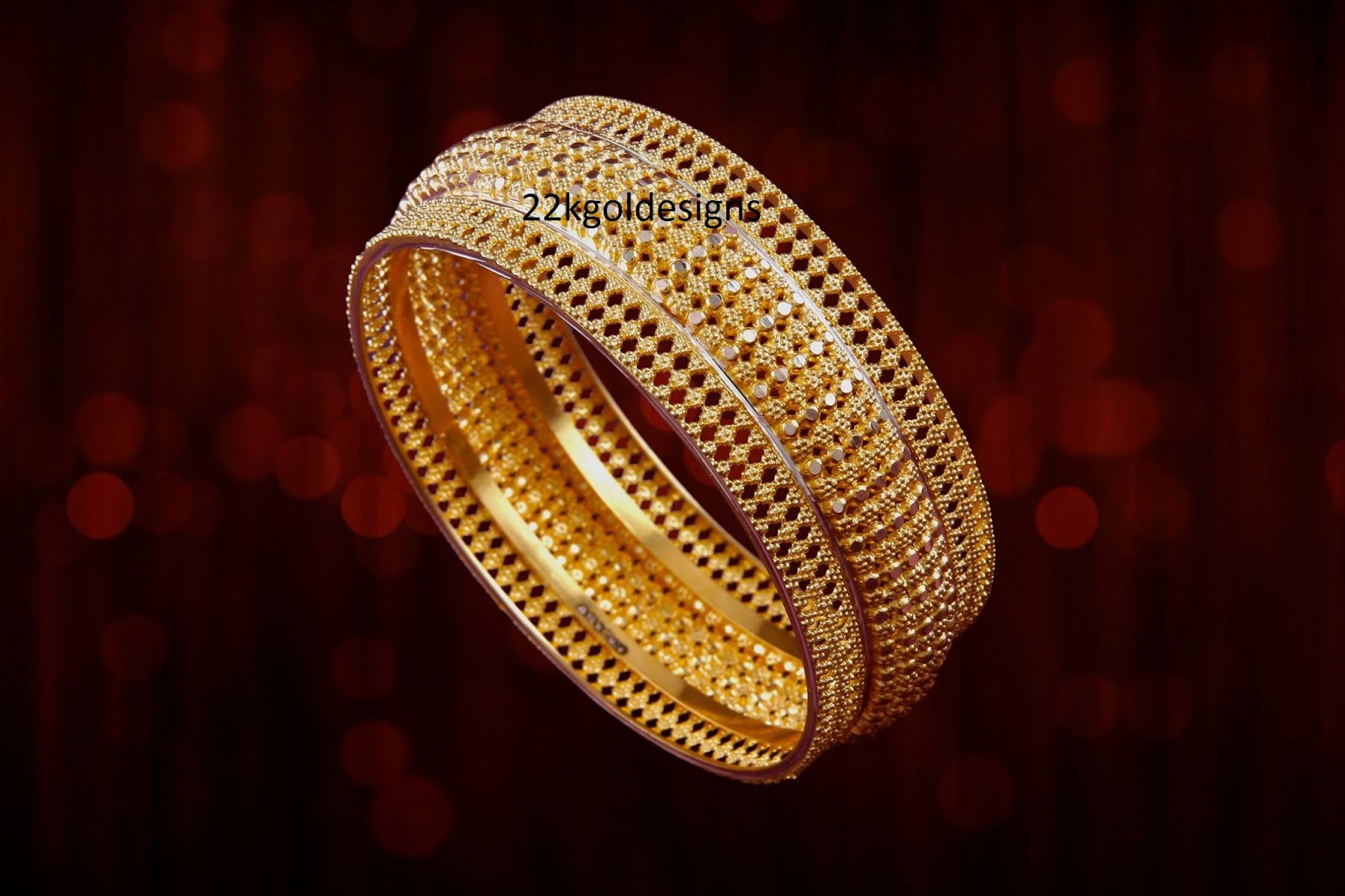 Manubhai Gold broad bangle - 22kGoldDesigns