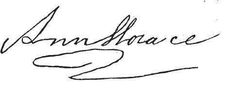 Fac-similé de la signature de la cantatrice Nancy Storace (1765-1817)