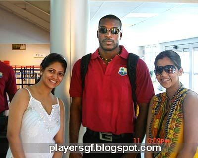 Chris Gayle and his girlfriend Nacy Benoit