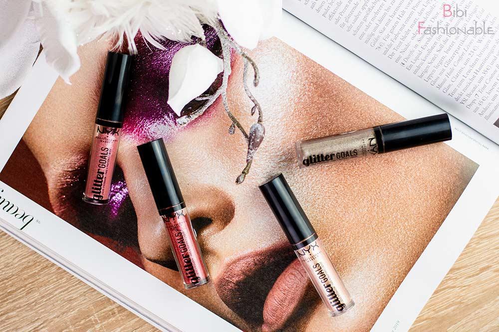 NYX Professional MakeUp Glitter Goals Liquid Eyeshadows Flatlay