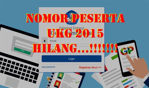 berikut cara yang dapat ditempuh Bapak dan Ibu Guru jika kehilangan nomor peserta UKG 2015 untuk registrasi akun Guru Pembelajar Online (GPO)