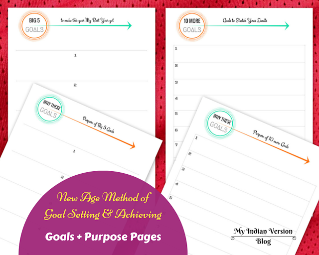 Goal setting and achieving - Goal + Purpose Printables