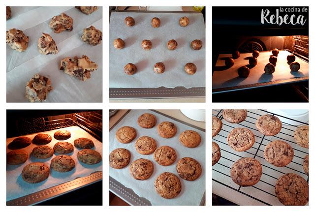 Receta de cookies (galletas americanas): el horneado