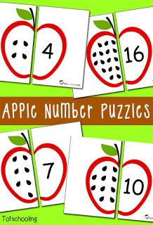 montessori apple counting
