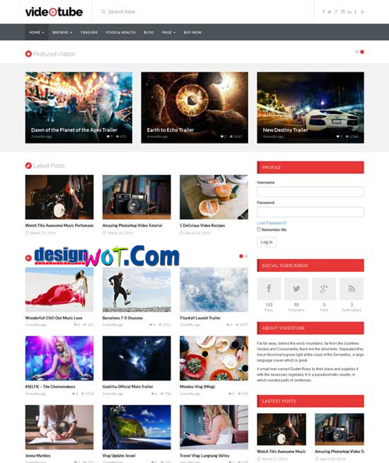 VIDEOTUBE Responsive Video-WordPress Theme