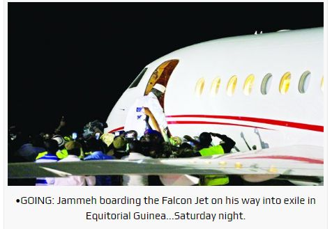 Tinubu's Private Plane Flies Yahya Jammeh Into Exile