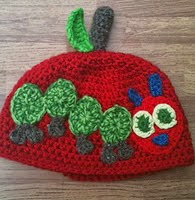http://www.ravelry.com/patterns/library/caterpillar-ate-an-apple-hat--the-very-hungry-caterpillar-inspired