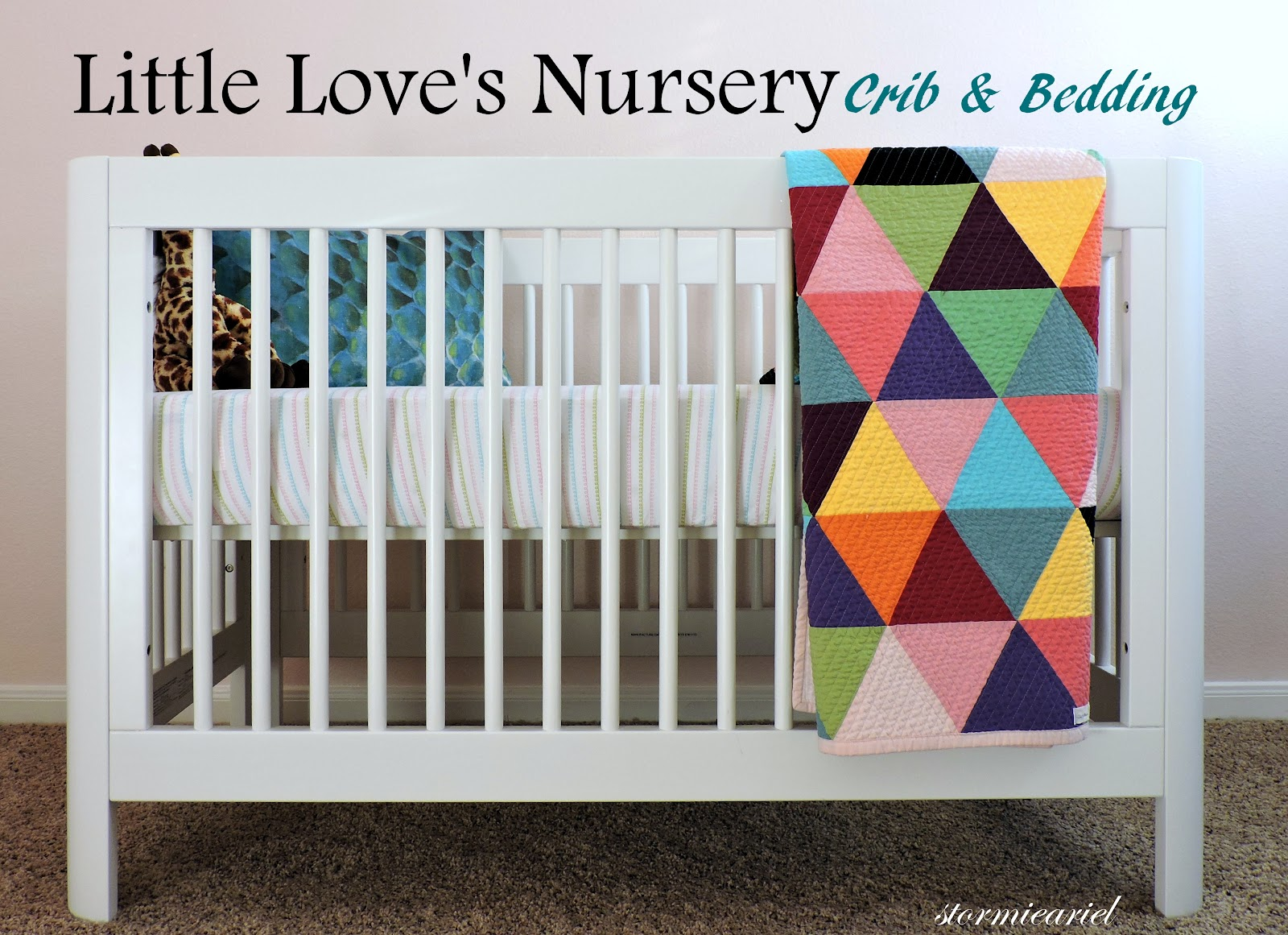 Baby Girl Nursery | Crib & Bedding