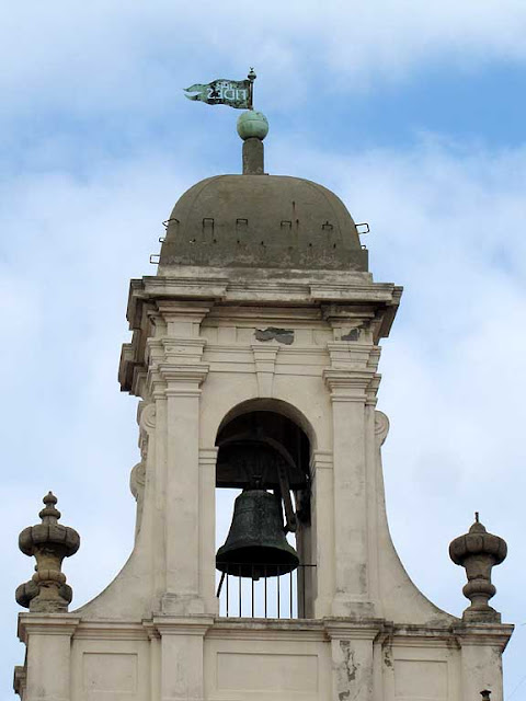 Town Hall bell tower, weather vane, Livorno