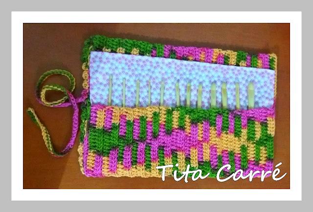 Case para agulhas em crochet