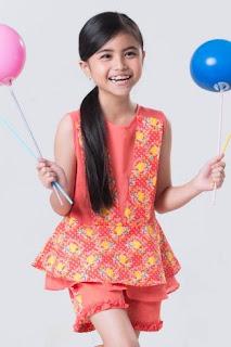 Model baju batik anak perempuan desain kekinian