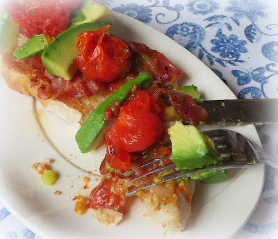 Tomato, Avocado & Pancetta on Toast