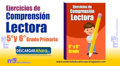 Ejercicios de Comprensión  Lectora 5 ° y 6° Grado Primaria