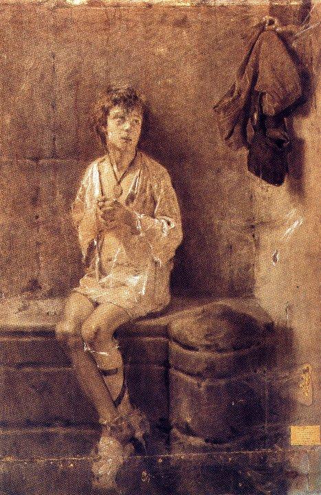Antonio Mancini 1852-1930   Italian Academic painter
