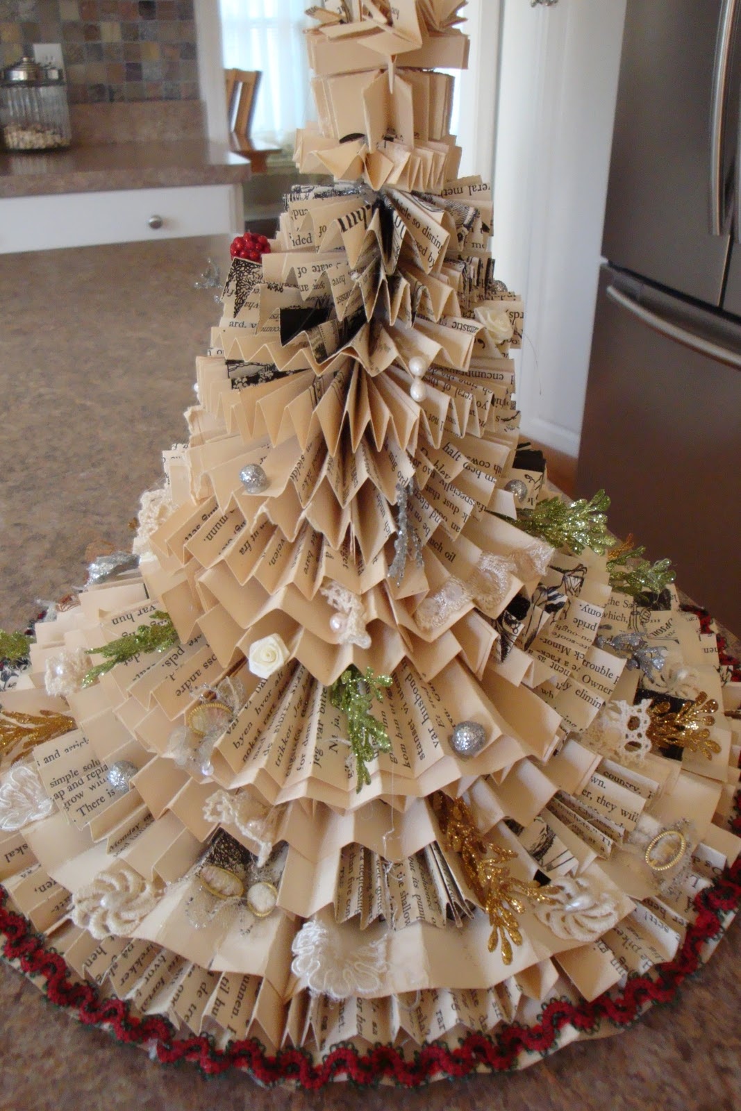 Christmas Decorations From Recycled Books