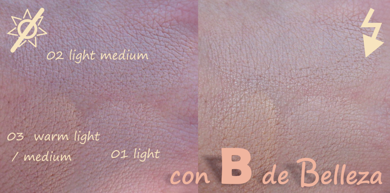 Swatches Light medium Warm light