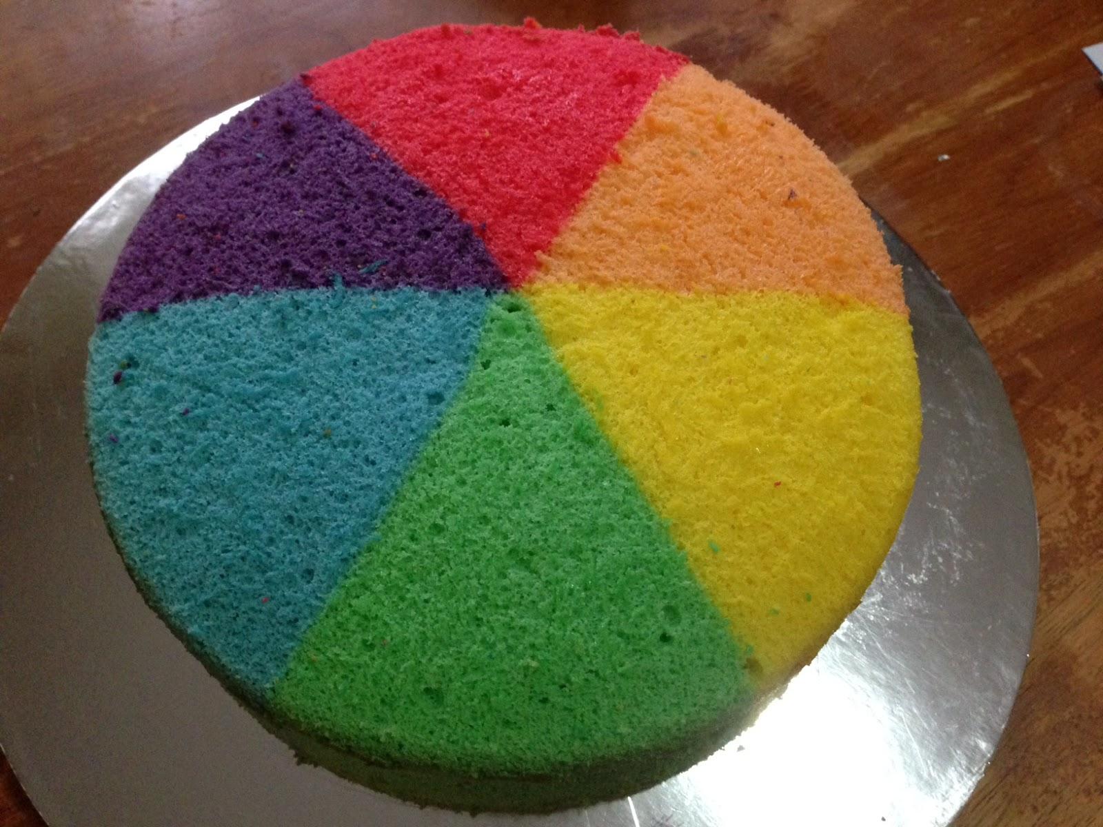 Heart Of Mary Rainbow Colour Wheel Chiffon Cake