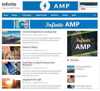 Template Blogger Infinite AMP Responsive Terbaru