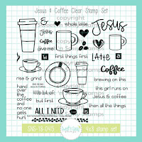 Jesus + Coffee Stamp set by Sweet 'n Sassy Stamps