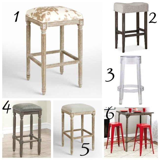 upholstered backless barstools, metal barstools,