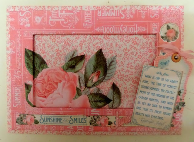 Time To Flourish Decorative Frame June Clare Charvill Jones Crafts Graphic 45
