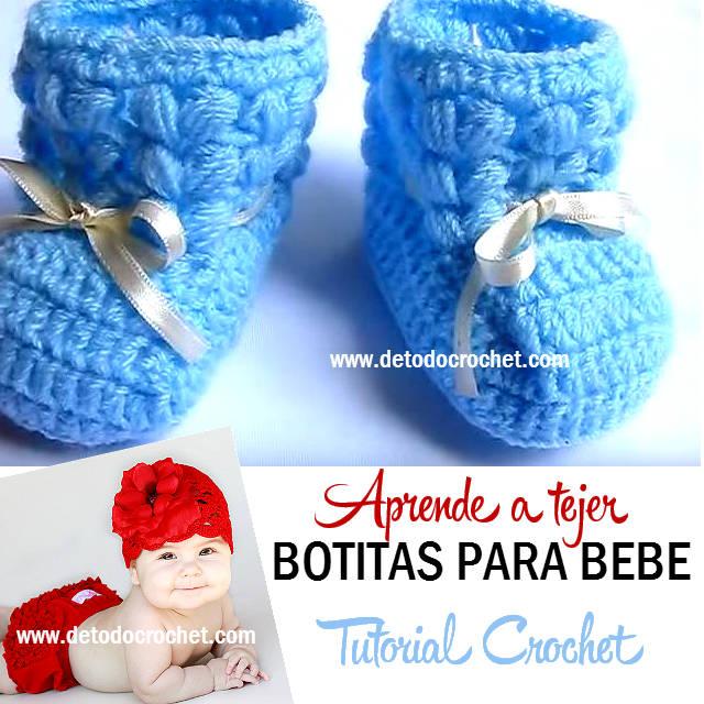 aprender a tejer botas para bebe con ganchillo