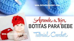 Cómo tejer Botitas Crochet para Bebé / Tutorial en Español