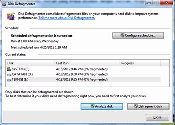 defragmentasi hardisk di windows 7