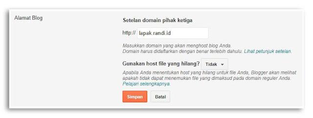 Membuat Sub Domain untuk Blogger Tanpa CPanel