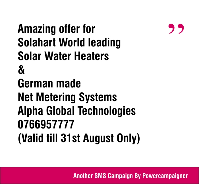 Amazing offer for Solahart World leading Solar Water Heaters & German made Net Metering Systems