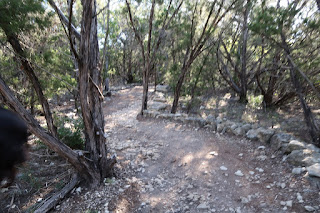 The trail up to the final zip. It's  about a mile long hike