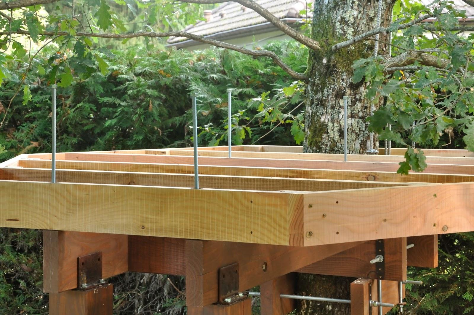 fixation de la structure du plancher cabane 2 la cabane de prout et nonosse. Black Bedroom Furniture Sets. Home Design Ideas