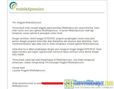 Email dari MobileXpression | SurveiDibayar.com