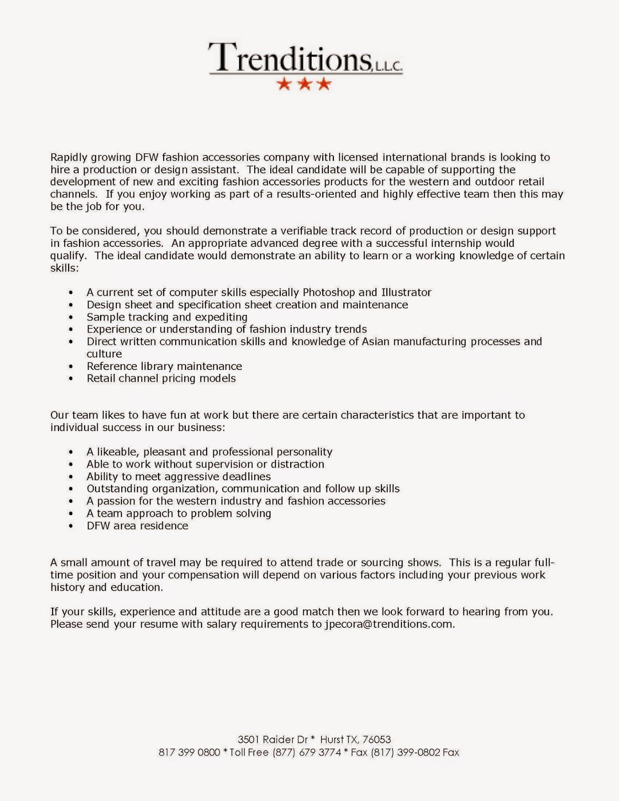 Job Description Of An Interior Designer Assistant