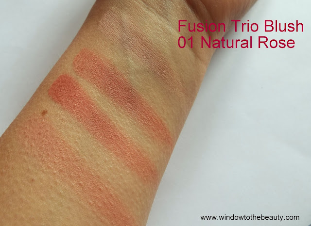 Fusion Trio Blush  01 Natural Rose swatches