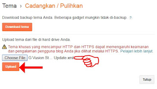 Upload Tema Blog