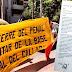 Entrega de firmas ante la Embajada Peruana en Santiago de Chile