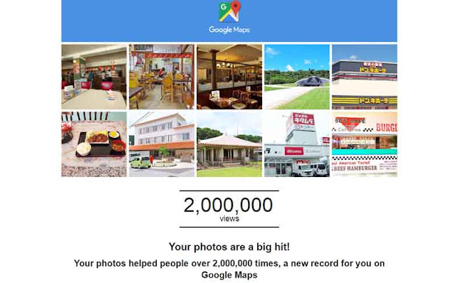 Screenshot from Google Maps 2 Million Views of photos