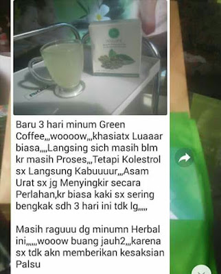 Testimoni GREEN COFFEE NULIFE
