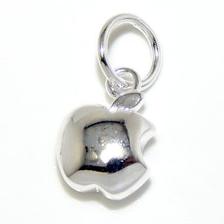 """Pro Jewelry .925 Sterling Silver Dangling """"Apple Symbol"""" Charm Bead for Snake Chain Charm Bracelets"""