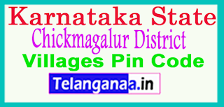 Chickmagalur District Pin Codes in Karnataka State